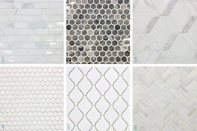 """Possible backsplash options 1, 6 - Young House Love   Our Laundry """"Room"""" Redo Is Officially On   http://www.younghouselove.com"""