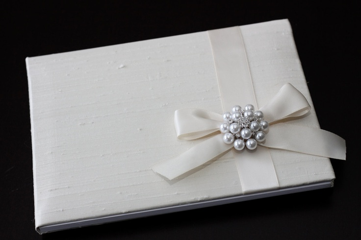 Ivory & Pearl Wedding Guest Book.