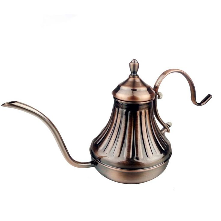 1 Pcs 420 ml  Europe Style Fashion Design Stainless Steel Tea Pot Coffee Maker Latte Cappuccino 26.5 x 10.5 x14.5 mm