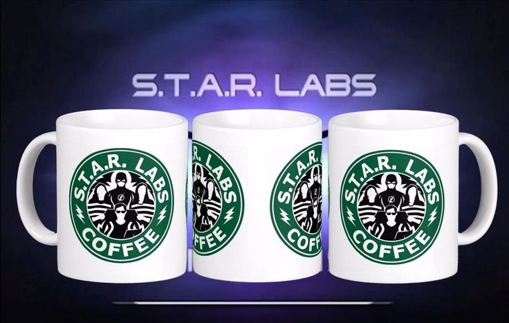 STAR Labs The Flash Starbucks Inspired Coffee Tea Gift Mug Cup New DC comics in Collectables, Kitchenalia, Mugs   eBay
