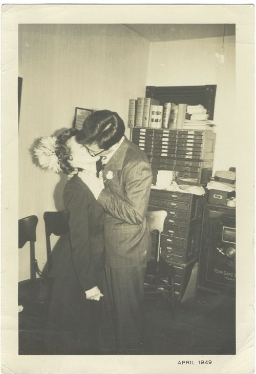 Office kisses...1949