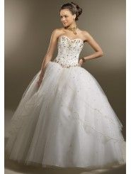Satin Sweetheart Beaded Bodice Quince Dress