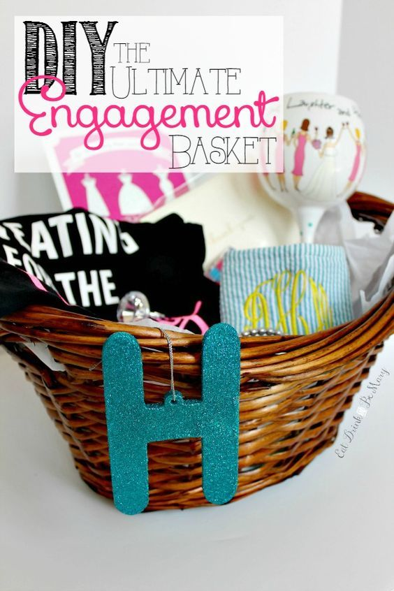 The Ultimate Engagement Gift: a DIY bride-to-be gift basket.