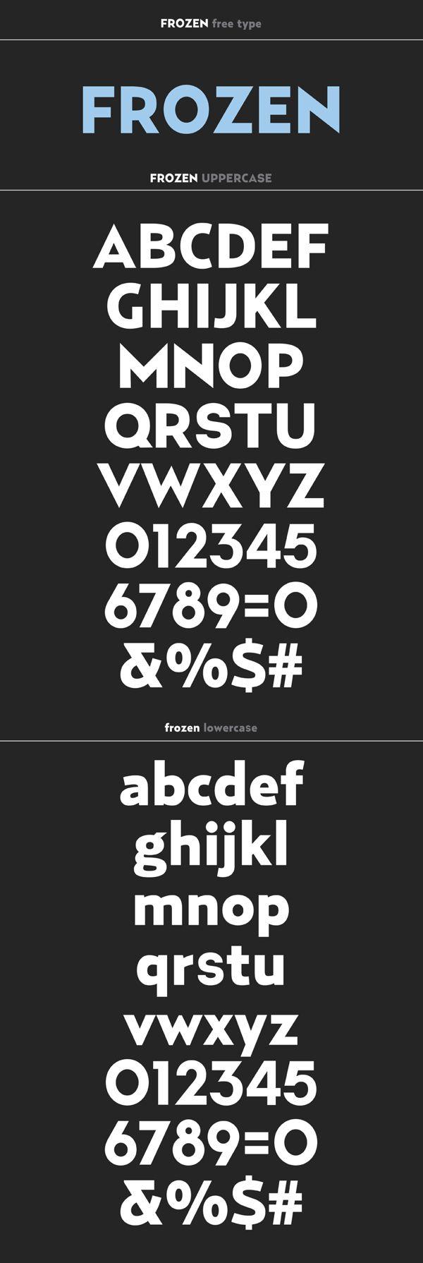 "bold type named ""Frozen"" - Frozen free type by Ricardo Veloso, via Behance"