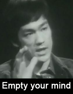 Bruce Lee - Empty your mind, be formless, shapeless — like water .. powerful gif