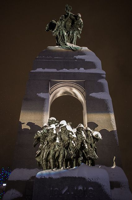 Snow in National War Memorial, Ottawa, Canada. I want to go see this place one day. Please check out my website thanks. www.photopix.co.nz