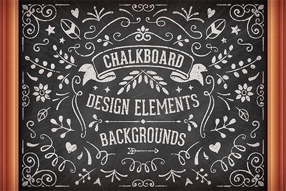 Chalkboard Design Elements by Swedish Points on @creativemarket