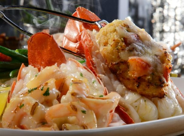 Red Lobster® Stuffed Lobster Tail Servings: 4 Prep Time: 30 minutes Bake Time: 30 minutes Ready In: 1 hour Ingredients Crab Stuffing 2/3 cup...