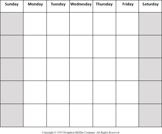 Best  Blank Monthly Calendar Ideas On   Free Blank