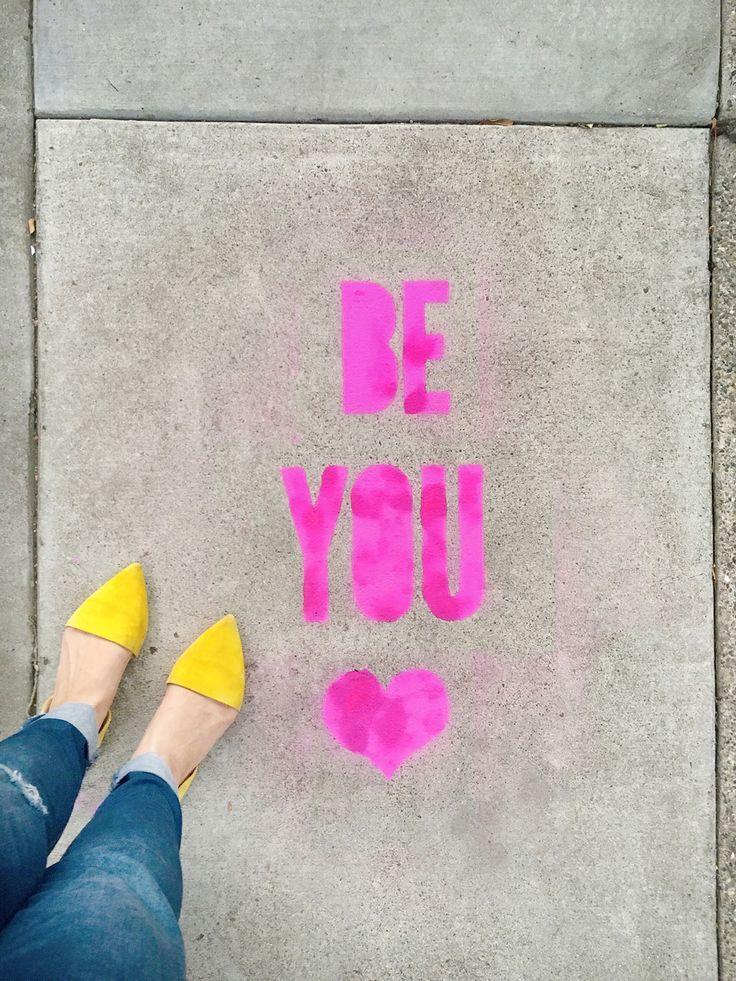 DIY Stencil Spray Chalk Sidewalk Messages. Use your Cricut machine to make custom stencils for temporary graffiti art.   Lovely Indeed