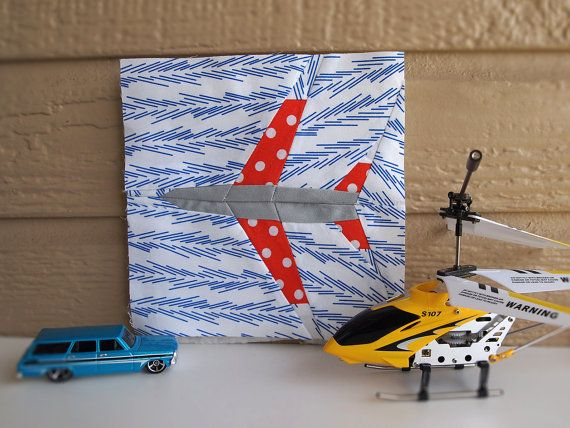 Airplane paper pieced quilt pattern in PDF by ProtoQuilt on Etsy