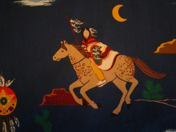 INDIAN WOMEN SOUTHWEST Fabric by Joan Messmore vip by KOALACaddie