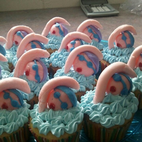 Swimming AND cupcakes! What could be better?