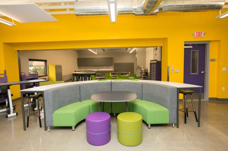 The Campfire Booth Collection from NorvaNivel is a great space for group work or large group instruction.