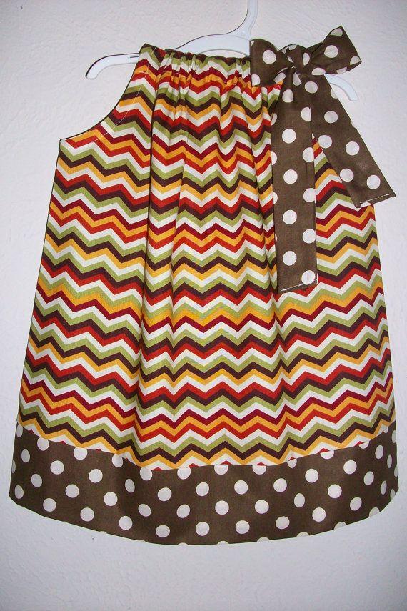 Pillowcase Dress Fall dress Chevron Dress by lilsweetieboutique
