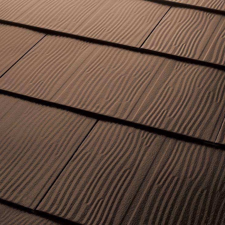 Best Metal Roofing Embossed Shingles Collection Dark Brown 640 x 480