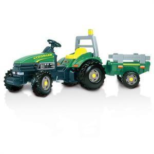 SMOBY Tracteur à pédales TGM Stronger + Remorque