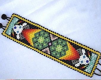 Resultado de imagen para patrones para hacer cintos de chaquira