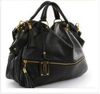 Black Roomy Satchel Handbag