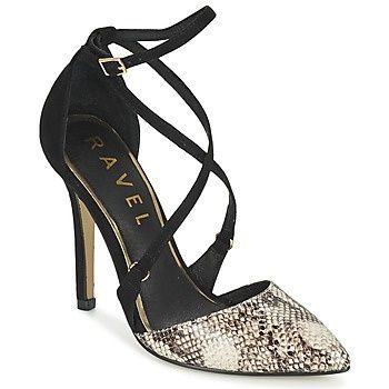 Δες το παπούτσι: γόβες μυτερές σε χρώμα μαύρο - μπεζ - εκρού animal μάρκας ravel σε προσφορά στο opo.gr