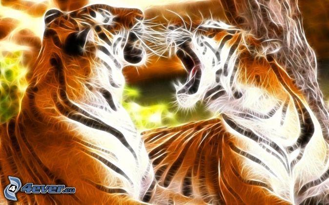 fraktaler Tiger, Gebrülle