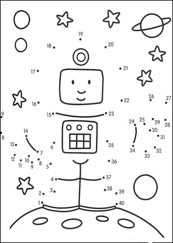 *FREE* Astronaut dot-to-dot 1-50