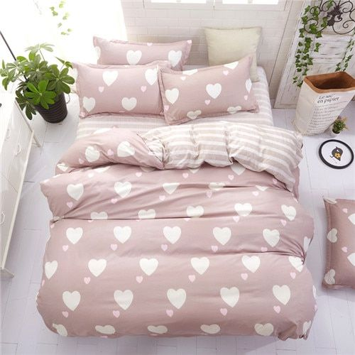Home Bedding Flower Bedding Set 3 4pcs Bed Linen Summer Duvet