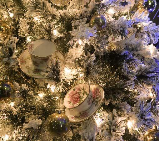 Tea cups on the Christmas tree at Calgary Zoolights | Jill Browne
