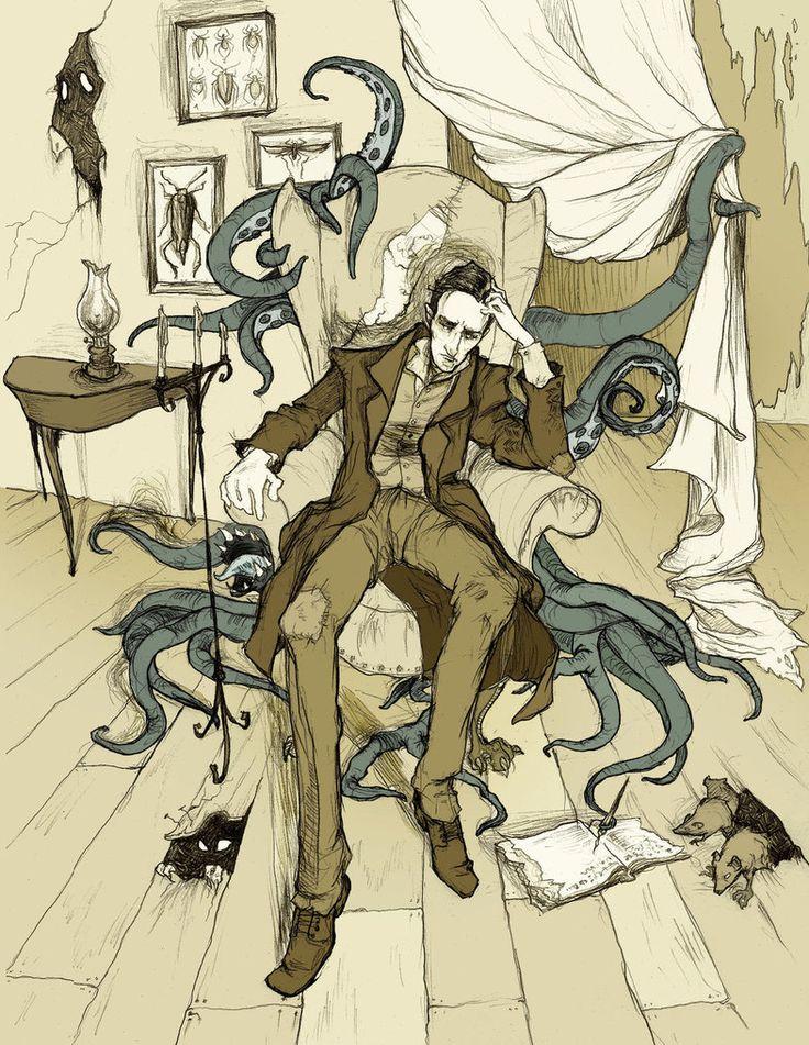H.P. Lovecraft  by *MirrorCradle