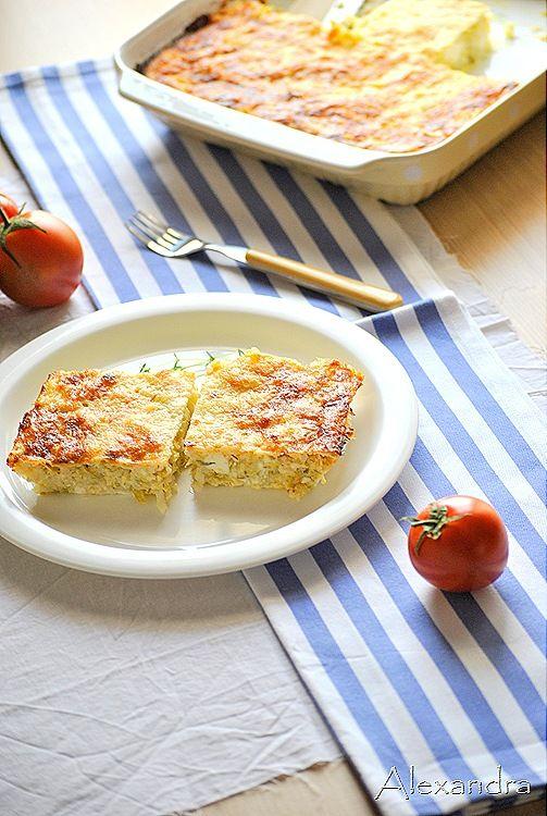 Γρήγορη πίτα με κολοκύθι,φέτα,γιαούρτι