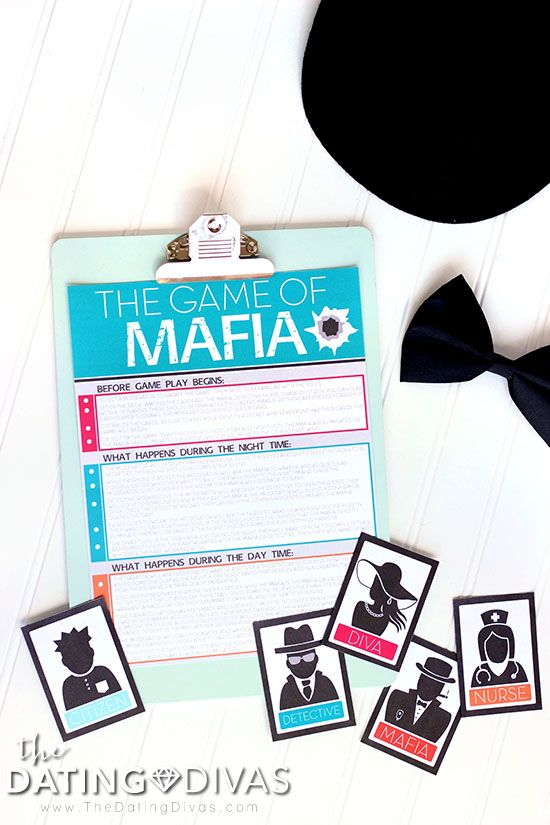 Mafia Game Night Instructions                                                                                                                                                                                 More