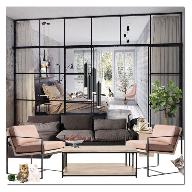 visitors by drn57 on Polyvore featuring interior, interiors, interior design, home, home decor, interior decorating, Home Decorators Collection, Sonneman and Distinctive Designs