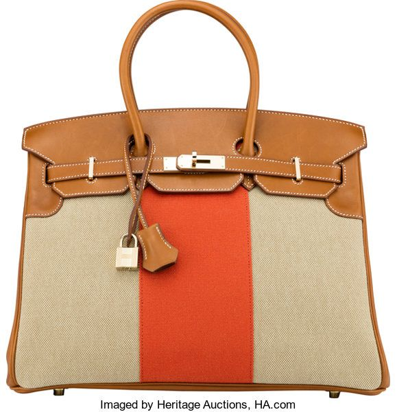 Luxury Accessories Bags Hermes Limited Edition 35cm Ficelle