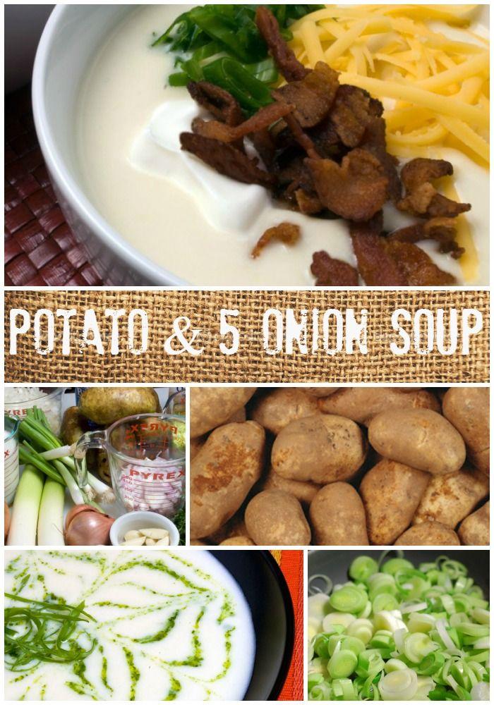 Potato & 5 Onion Soup   LunaCafe