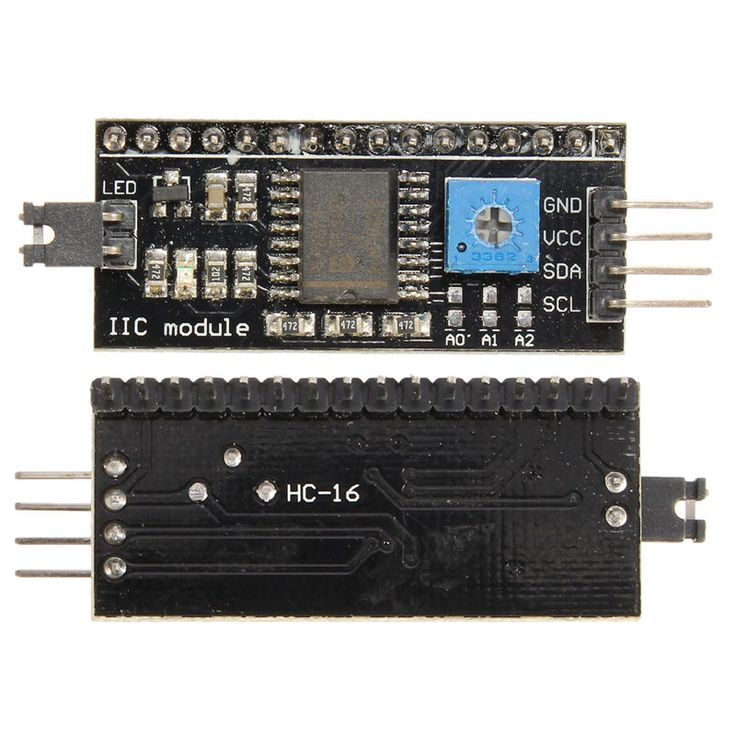 New Arrival 10Pcs/lot LCD1602 I2C/IIC/TWI Serial Interface Board Module for Arduino R3 Display 54x19 mm 5V Hot Sale