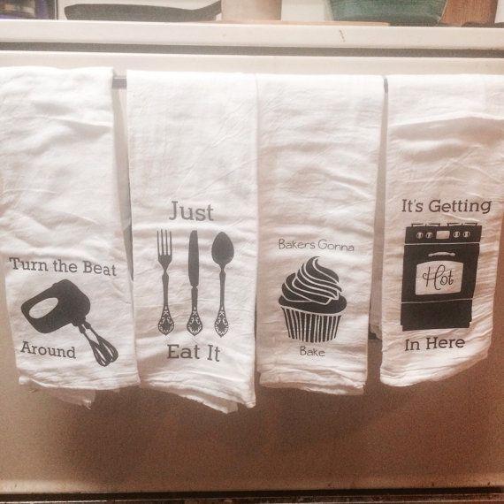 Song Lyric Kitchen Towels, Hostess Gift, Housewarming Gift