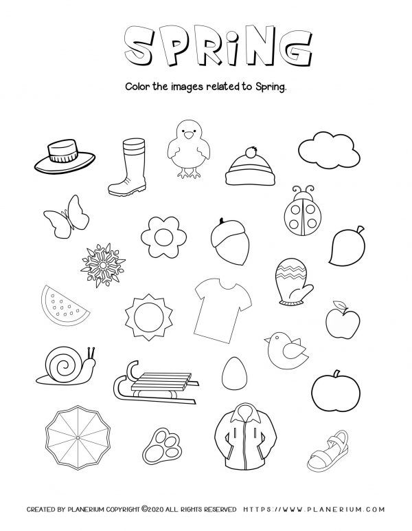 Spring Coloring Pages And Worksheets Free Planerium In 2020 Coloring Pages Spring Coloring Pages Seasons Worksheets