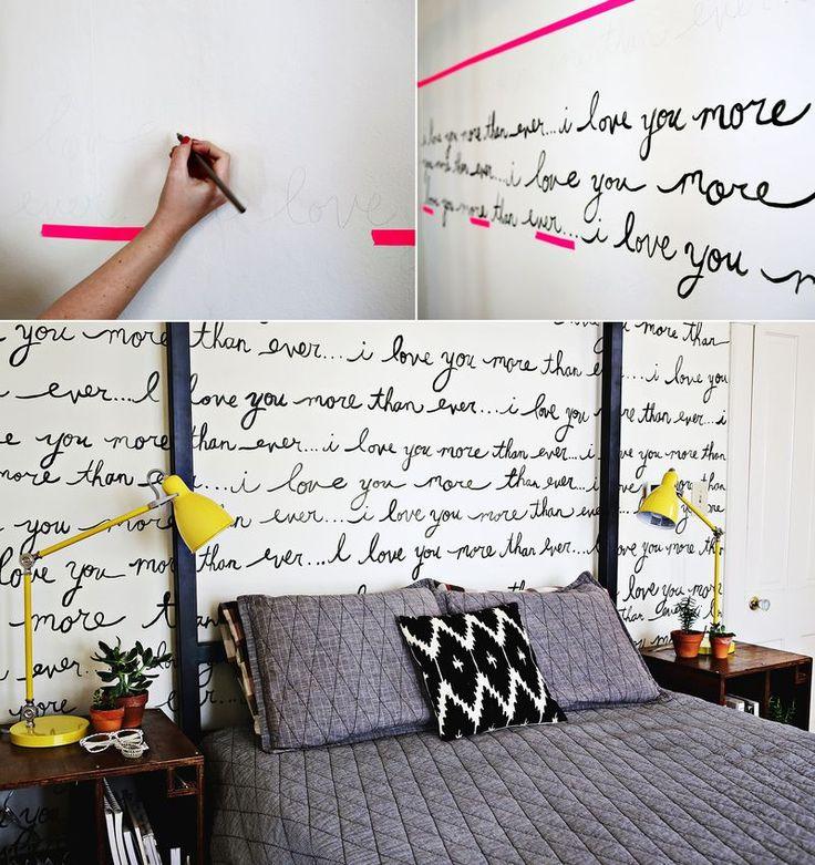 Decoração com frases na parede - Casinha Arrumada