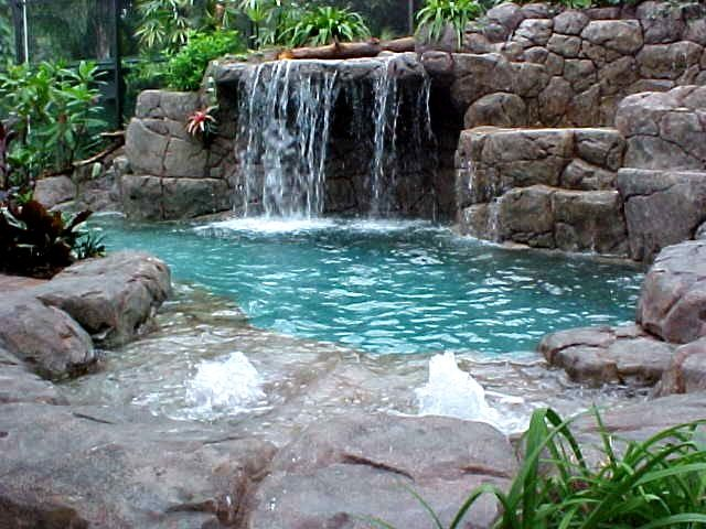 I think I need this pool and waterfall.Pools Waterfall, Swimming Pools, Style Inspiration, Fountain, Back Yards, Dreams Pools, Rocks, Backyards Waterfal, Outdoor Pools