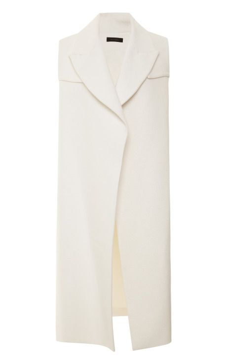 Shop Long Rubberized-Cotton Open Vest-Trench by Ellery - Moda Operandi