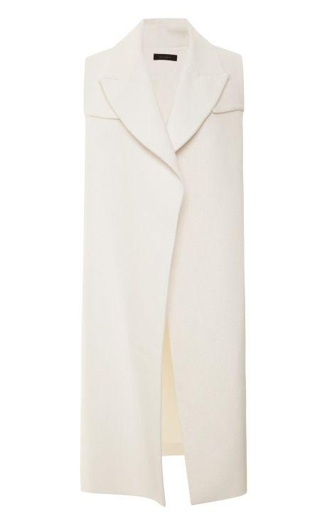 Shop Long Rubberized-Cotton Open Vest-Trench by Ellery - Moda Operandi