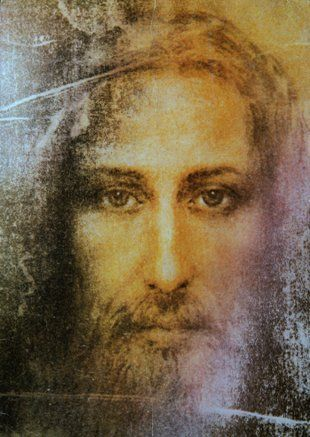 Painting of Jesus based on image found on Shroud of Turin--This is amazing- Click on it to read all about it. Absolutely incredible and evidential!!