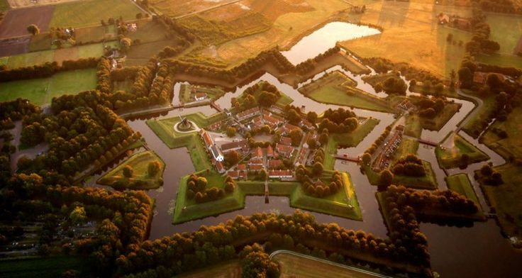 The star fort at Bourtange, Netherlands -Courtesy of Amos Chapple