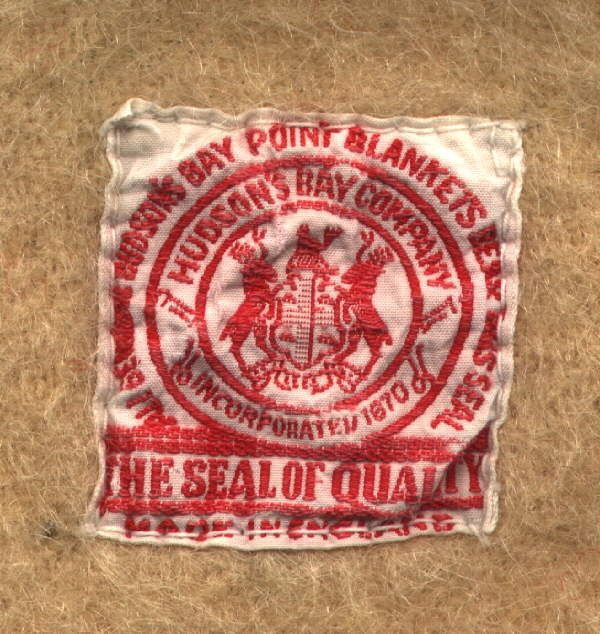 When buying Hudson's Bay Point Blankets, this site will guide you in determining the age. Our earliest is the red label between 1915 and 1920.