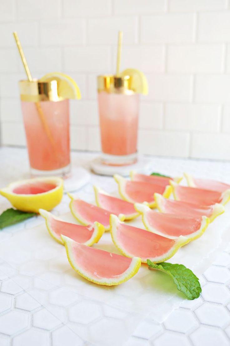 Pretty Pink Lemonade Jello Shots for Bachelorette Party - Fun Bachelorette Party Ideas - Bachelorette Party Cocktail Ideas {Bloglovin}