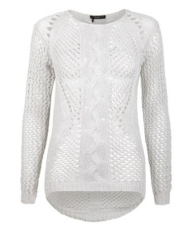 Take a look at this Ivory Hi-Low Sweater on zulily today!