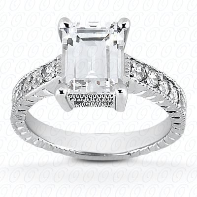 emerald cut engagement ring from unique settings
