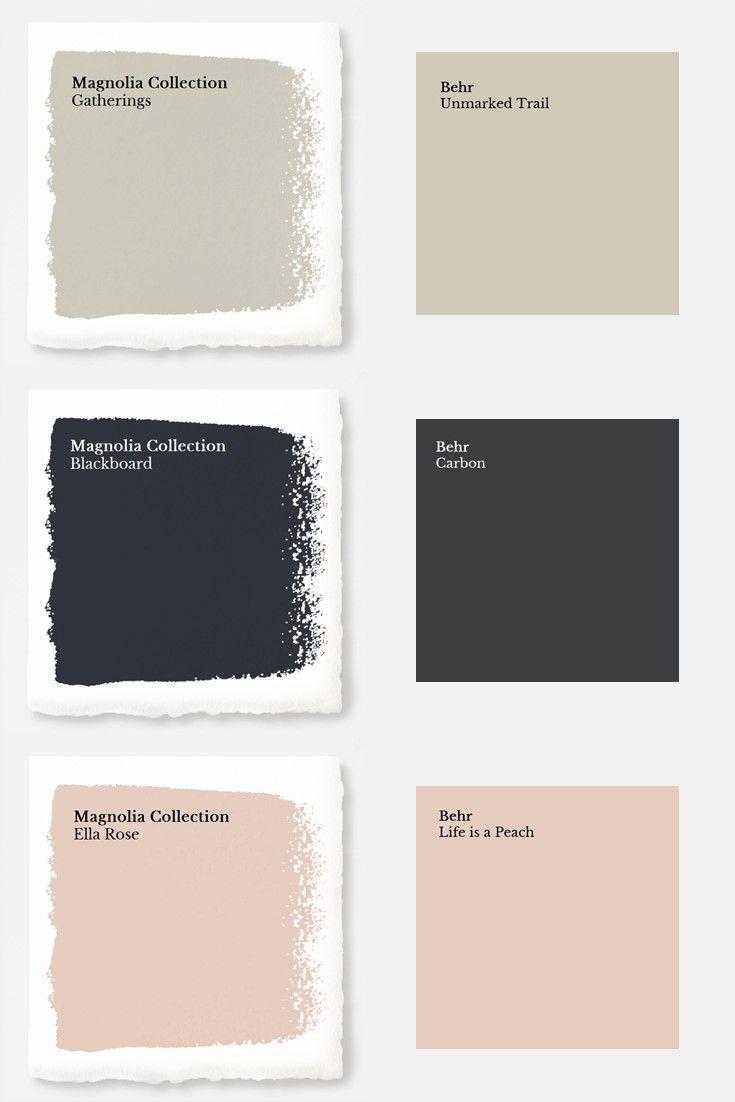 Magnolia Paint Colors Matched To Behr Bedrooms Disenos De Unas Colores Interiores Decoración Hogar