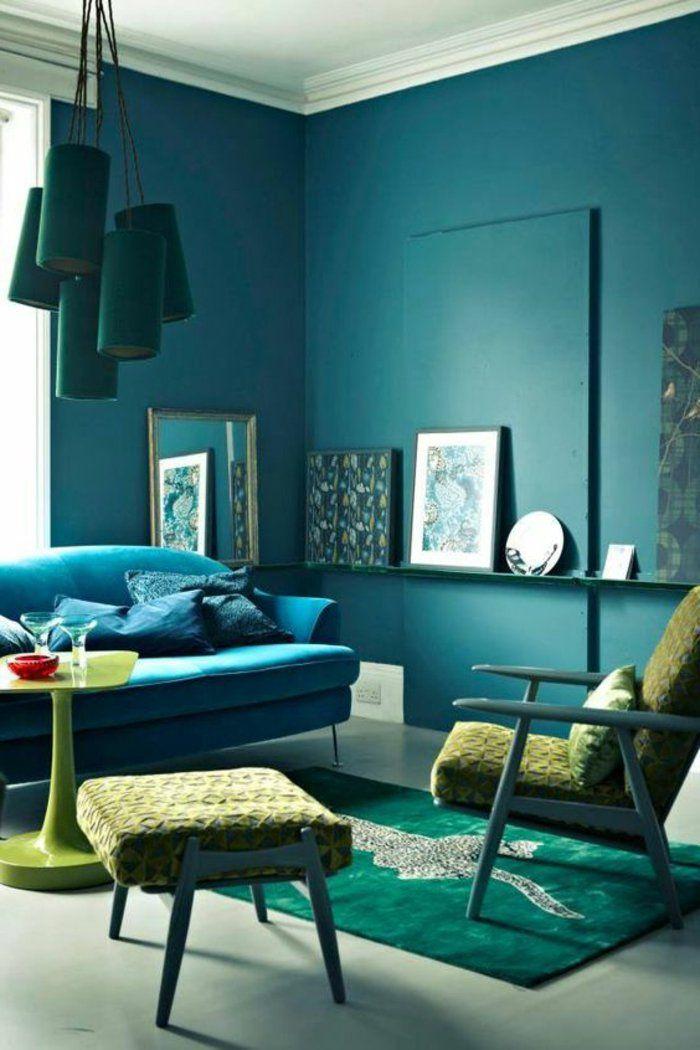 Les 25 meilleures id es de la cat gorie fauteuil bleu canard sur pinterest d coration salon - Vert canard couleur ...