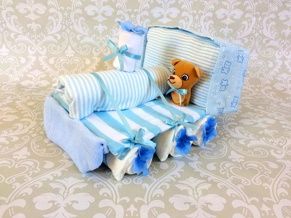 Baby Boy Diaper Train  an adorable baby shower gift made to
